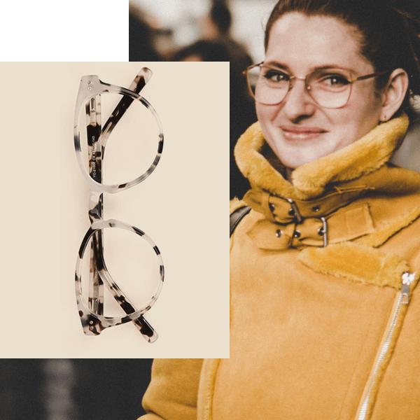 Marble Eyeglasses for Seniors