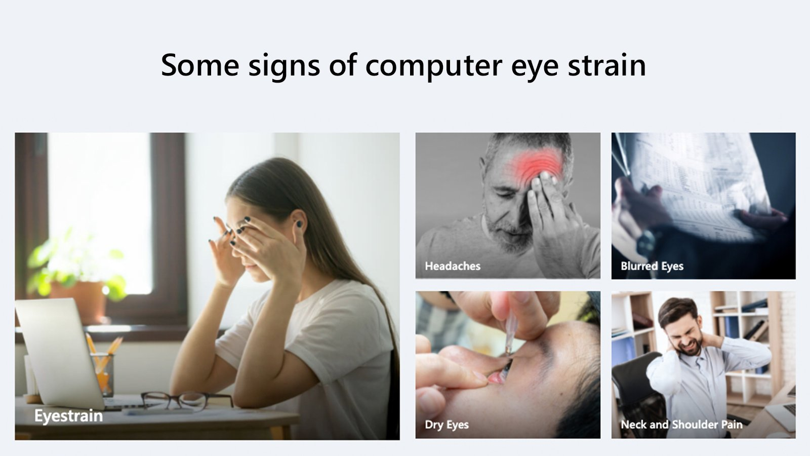 signs of computer eye strain
