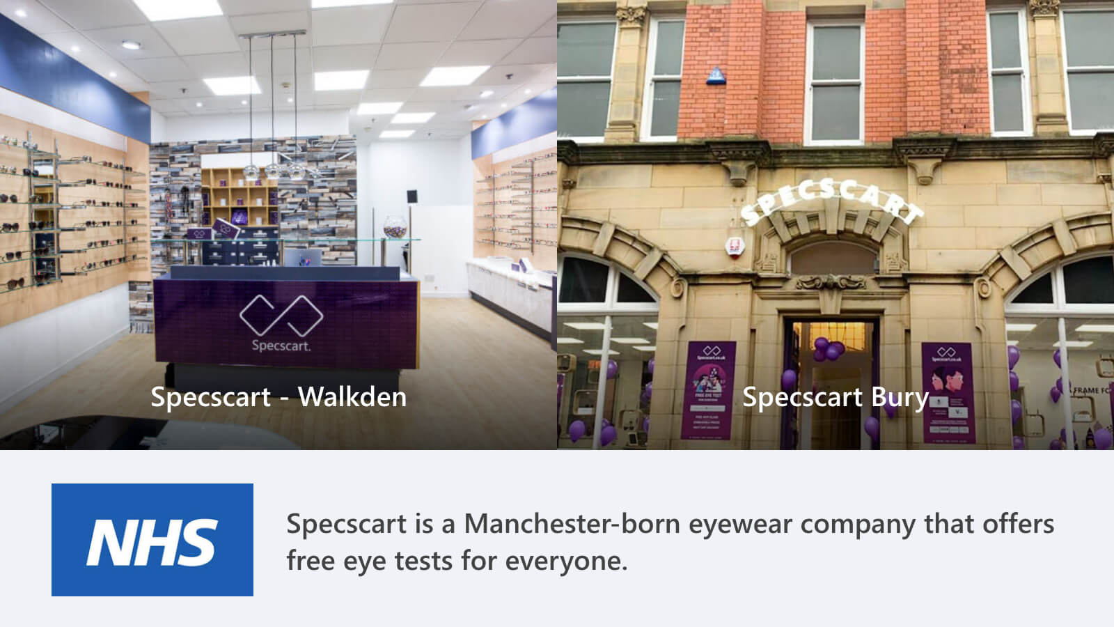 Where do Students get Free eye tests for all age groups?