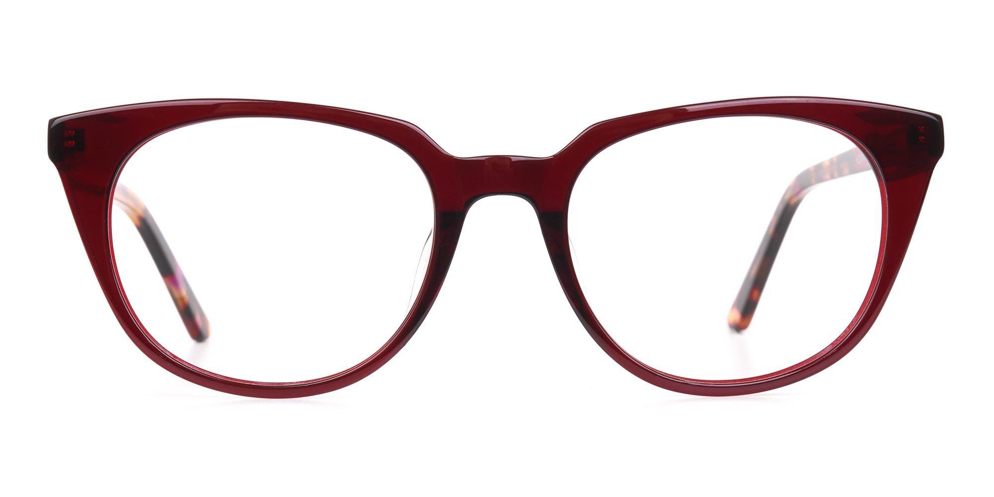 Dark Cherry Cat-eye glasses