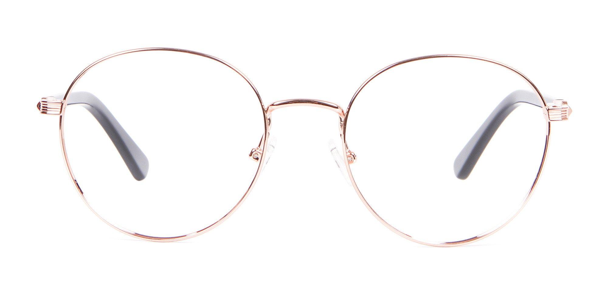 Rose gold Round glasses