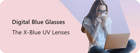 digital blue glasses UV lenses