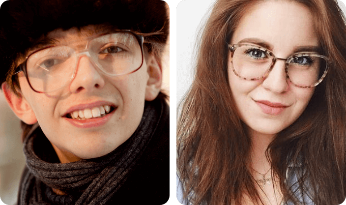 marble eyeglasses say about