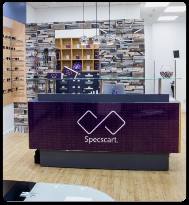 Specscart's free eye test store