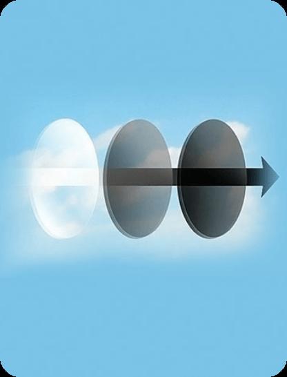 transition Photochromic glasses