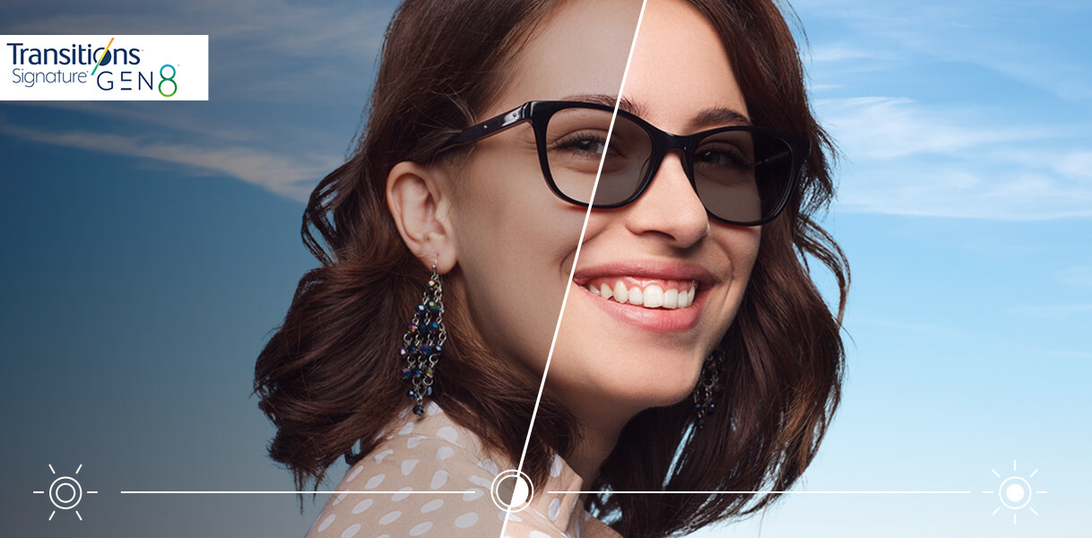 Sunglasses and transition lenses