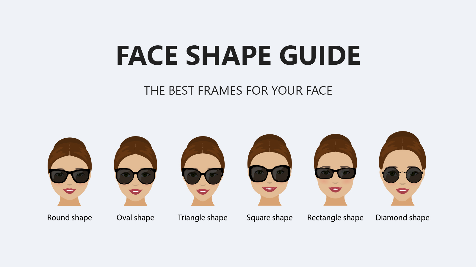 Ideal Sunglasses shapes that perfectly compliment your face.