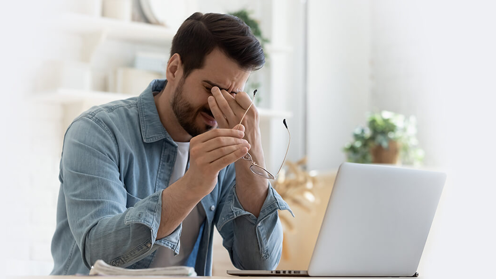 How to prevent eye strain when using a computer?