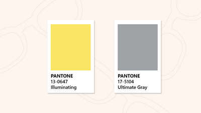 Glasses in Pantone Colour Of the Year 2021
