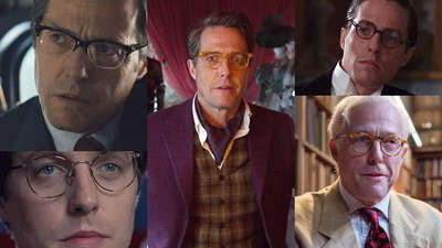 Hugh Grant in glasses - recreate his iconic style moments